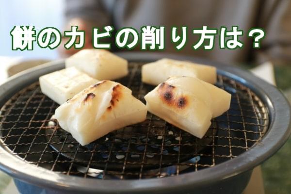 餅のカビの削り方と保管方法